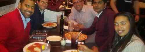 Jantar com os colegas